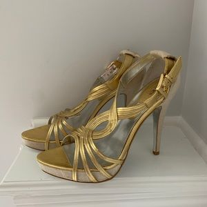 Shoes - CHARLES BY CHARLES DAVID Stiletto Gold Sandal 9,5